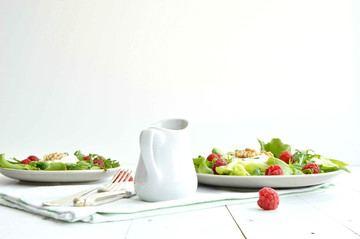 Rezept Grüner Salat mit honigglasiertem Ziegenkäse