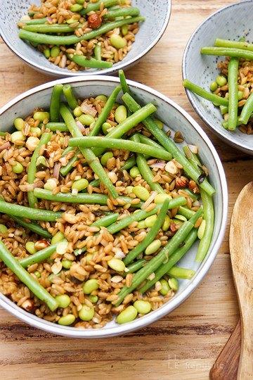 Rezept Grünkern Bohnensalat mit Miso-Dressing