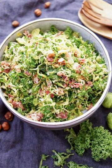 Rezept Grünkohl Salat mit Parmaschinken
