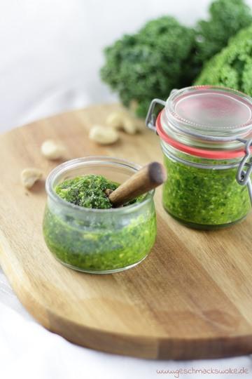 Rezept Grünkohlpesto: Gesund und lecker zu Pasta und Salaten