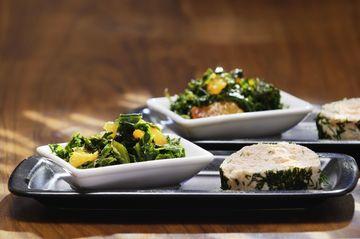 Rezept Grünkohlsalat dazu eine Lachsterrine