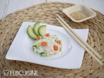 Rezept Grüße aus Fernost: Sushi nicht gerollt, sondern ganz einfach als Salat mit Apfel-Wasabi-Dressing