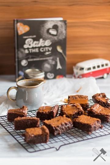Rezept Guinness Brownies mit Karamellsoße