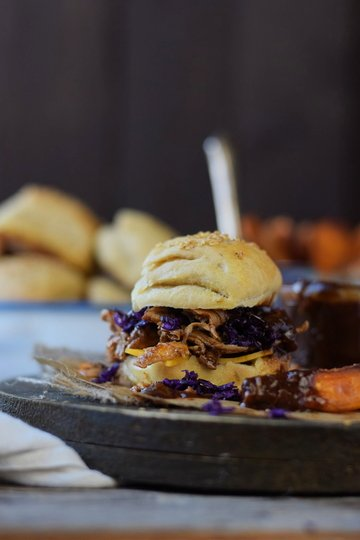 Rezept Guinness Pulled Chicken Burger