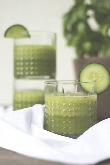 Rezept Gurken-Matcha-Limonade mit Basilikum