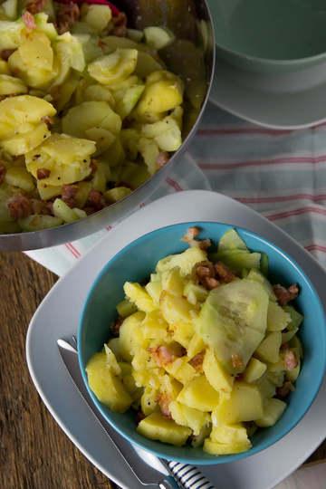 Rezept Gurken Speck Kartoffelsalat