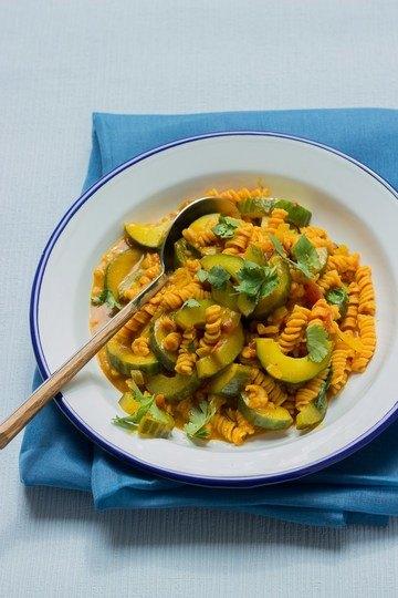 Rezept Gurkencurry mit Linsenspirelli