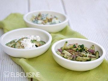 Rezept Gurkensalat mal 3 – für jeden Geschmack eine Variante!