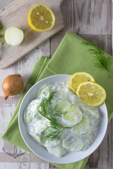 Rezept Gurkensalat mit Dill und saurer Sahne