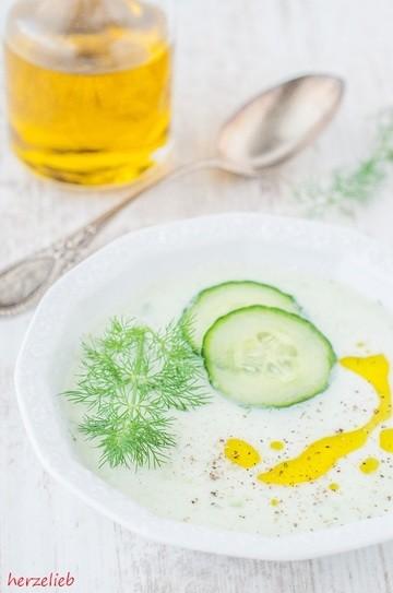 Rezept Gurkensuppe mit Dill