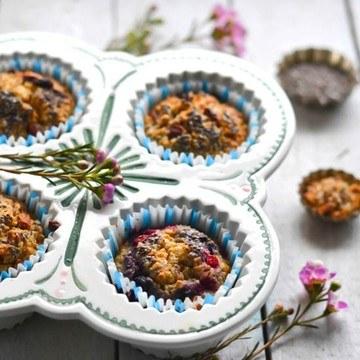 Rezept Hafer Frühstücks Muffins - Baked Oats
