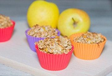 Rezept Haferflocken-Apfel Muffins