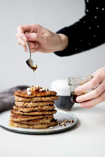 Rezept Haferflocken-Bananen-Pfannkuchen