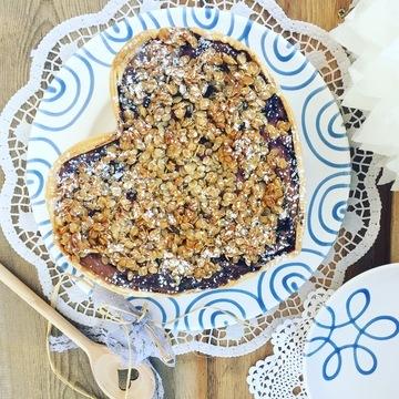 Rezept Haferflocken Heidelbeer Cheesecake