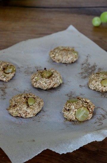 Rezept Haferflockenkekse mit Trauben