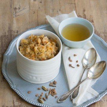 Rezept Haferflockenporridge mit Möhren, Kokos und Orange