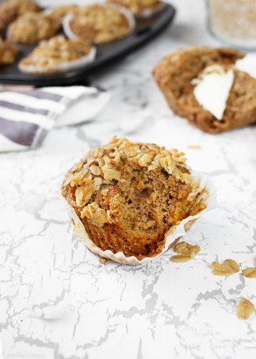 Rezept Hafermuffins mit Kleie & Karotte (vegan)