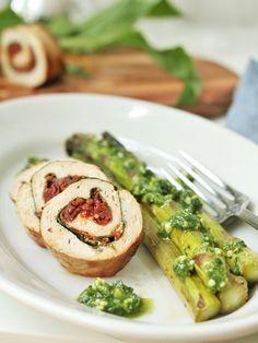Rezept Hähnchen Involtini mit Bärlauch & getrockneten Tomaten