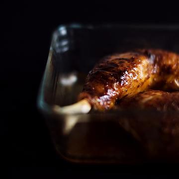 Rezept Hähnchen mit einer Wermut-Honig-Glasur aus dem Ofen