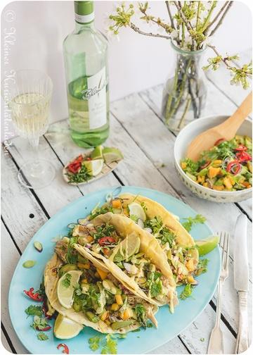 Rezept Hähnchen-Tacos mit Spargel-Mango-Salsa
