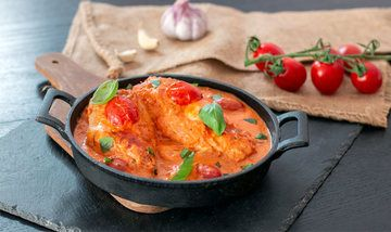 Rezept Hähnchenbrust mit Tomaten-Mascarpone aus dem Ofen