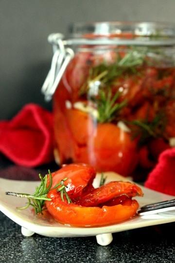 Rezept Halb getrocknete Tomaten in Olivenoel