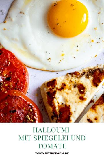 Rezept Halloumi mit Spiegelei und Tomate