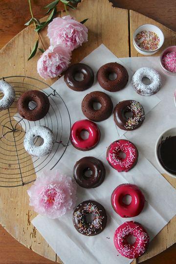 Rezept Happy Donut Day - Baked Brownie Donuts