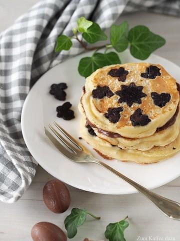 Rezept Häschen-Pancakes mit Ostereiern