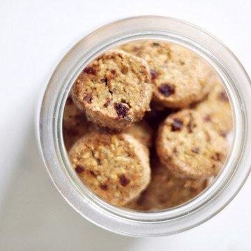 Rezept Haselnuss-Cranberry-Kekse mit Zitrone