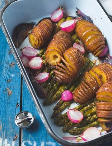 Rezept Hasselback Kartoffeln mit dem Spiralschneider