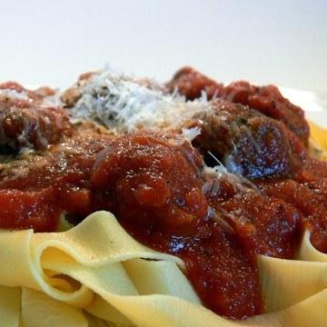 Rezept hausgemachte Lasagnette mit Fleischbällchen