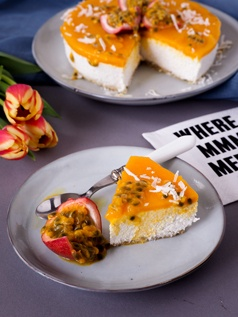 Rezept Hawaii inspired Mango-Passionfruit Cake