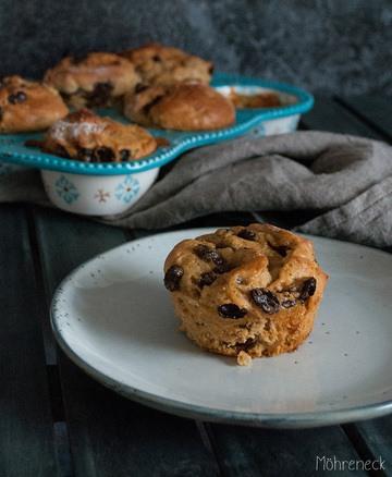 Rezept Hefeknoten mit Pudding und Rosinen
