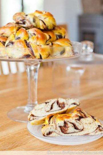 Rezept Hefeknoten mit Schoko-Pudding