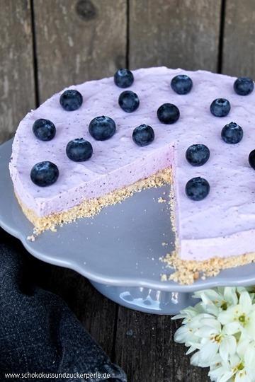 Rezept Heidelbeer-Butterkeks-Torte ohne Backen