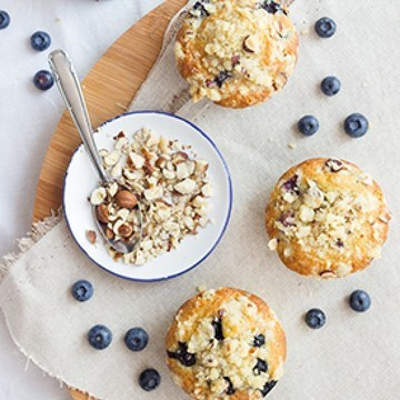 Rezept Heidelbeer-Nuss-Muffins