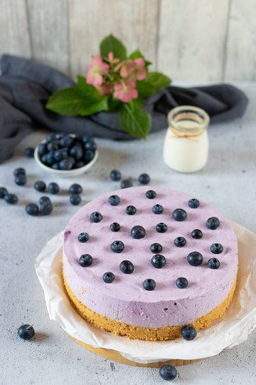 Rezept Heidelbeer-Torte mit Keksboden