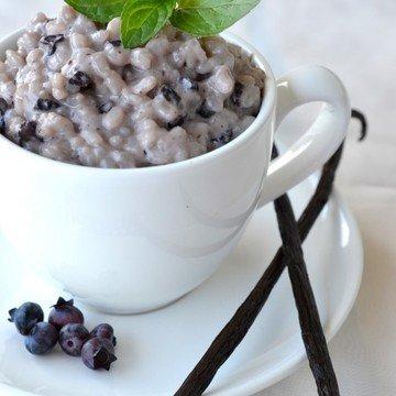 Rezept Heidelbeer-Vanille-Milchreis