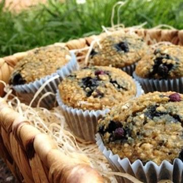 Rezept Heidelbeeren-Haferflocken-Muffins