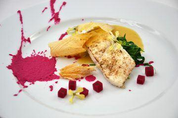 Rezept Heilbutt I Gewürz-Beurre blanc I Rote Bete