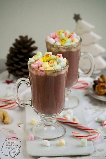 Rezept Heiße Amaretto-Schokolade mit flambierten Marshmallows