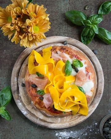 Rezept Herbstliche Kürbispizza