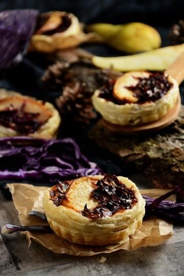 Rezept Herbstliche Rotkohl-Tartelette mit Birne
