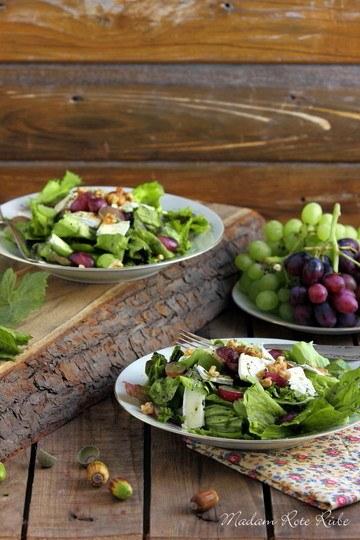 Rezept herbstlicher Trauben-Käse-Salat