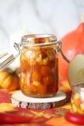 Rezept Herbstliches Kürbis-Apfel-Chutney