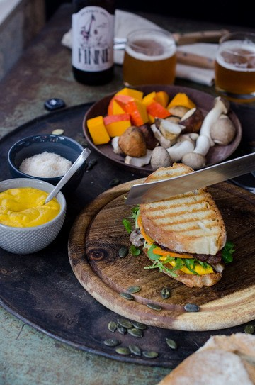 Rezept Herbstliches T-Bone Sandwich