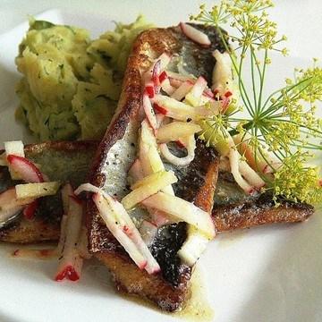 Rezept Hering mit Kartoffel-Gurken-Stampf
