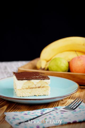 Rezept herrlich cremige Bananenschnitte