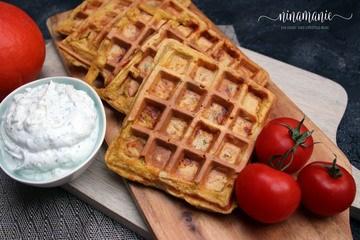 Rezept Herzhafte Dinkel-Kürbis-Waffeln mit Käse